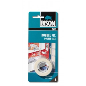 Bison Dubbel Fix schuimtape wit rol 1,5 m x 19 mm