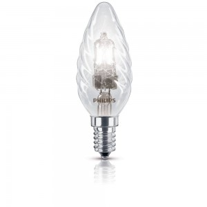 Philips EcoClassic halogeenkaarslamp 230 V 18 W E14 lichtkleur warm wit