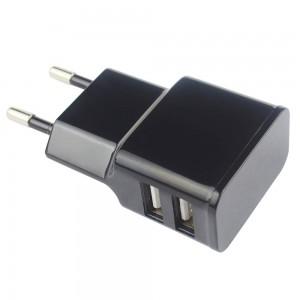 Grab 'n Go 2.4 Amp Dual USB Wall Charger Black