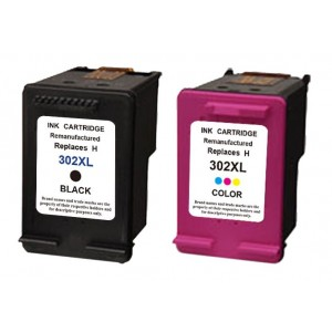 Set cartridges voor HP 302XL met niveau-indicator
