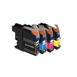 Set cartridges voor Brother LC 121 LC 123 (met chip)