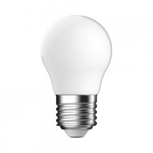 LED Kogel E27 4,8W Mat Dimbaar Volglas