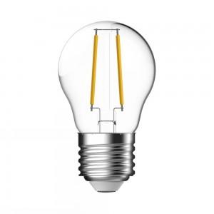 LED Kogel E27 2,1W Helder Volglas