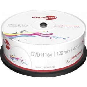 Primeon DVD+R 4.7GB 25 stuks spindel 16x