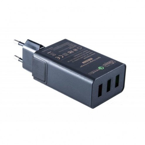 USB Snellader 42W Quick Charge 2.0 3 USB poorten
